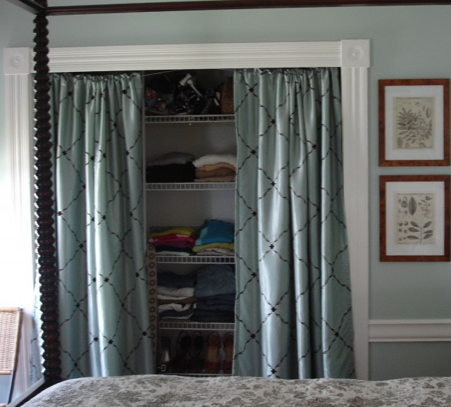 Alternatives To Doors Interiors: Diy Closet Door Curtains