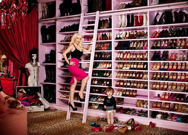 Closet For Clothes And Shoes
