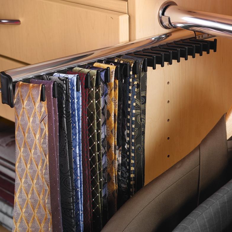 Closet Tie Rack Sliding Home Design Ideas