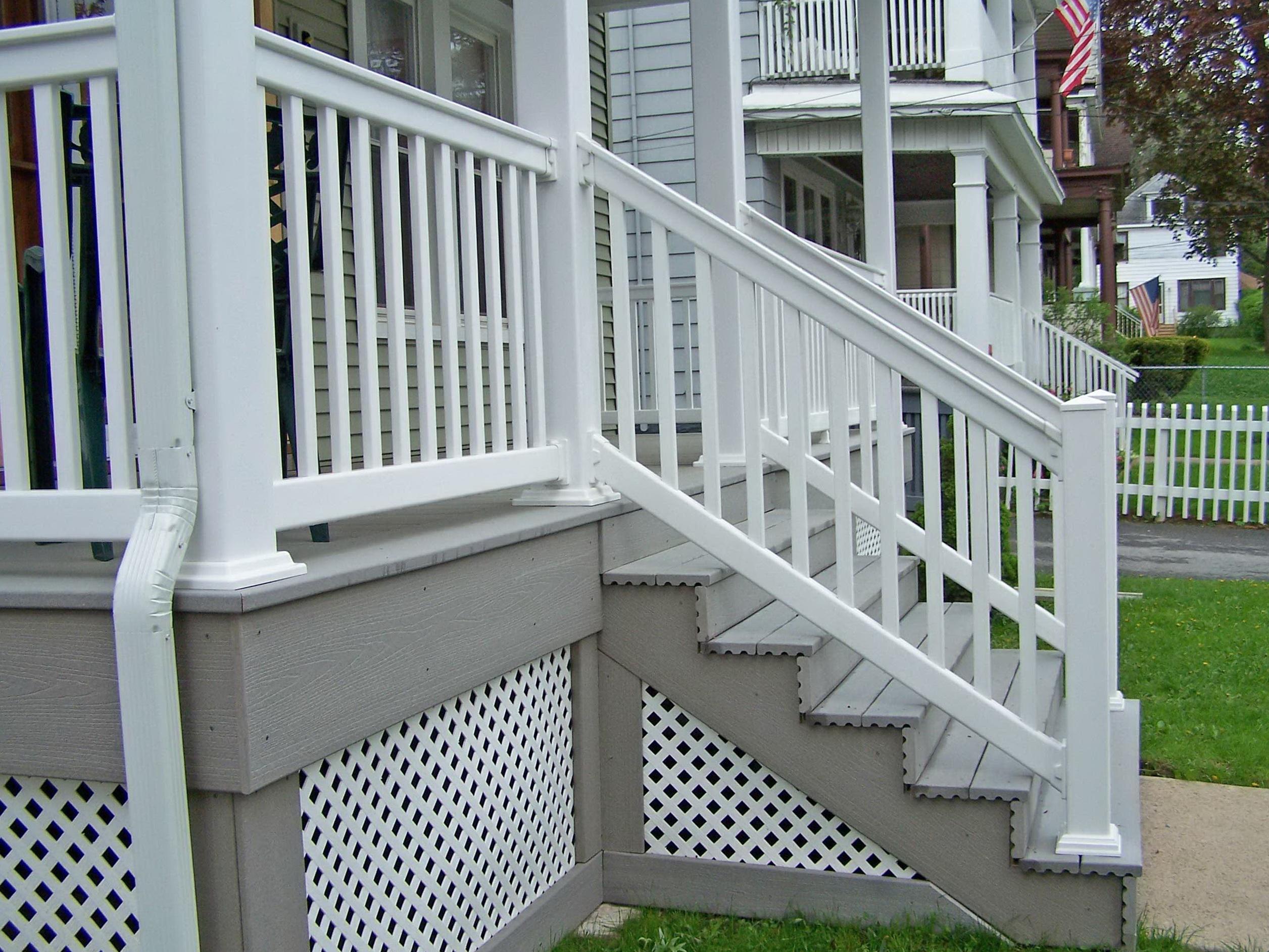 Composite deck railing gates home design ideas for Porch gate plans
