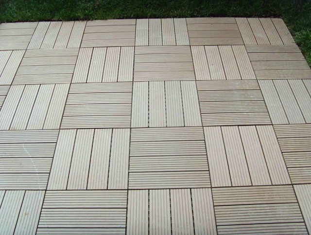 Composite Deck Tiles Installation