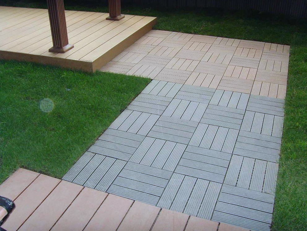Composite deck tiles on grass home design ideas Composite flooring for decks