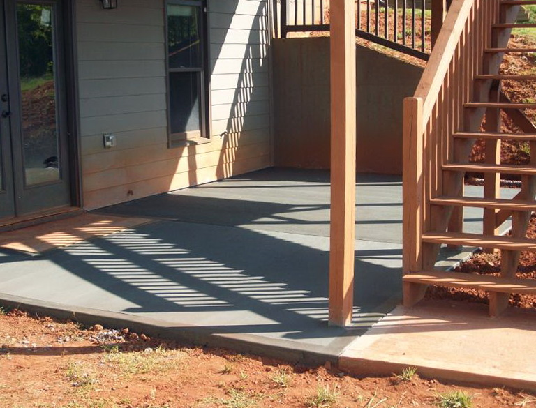 Concrete Patio Under Deck