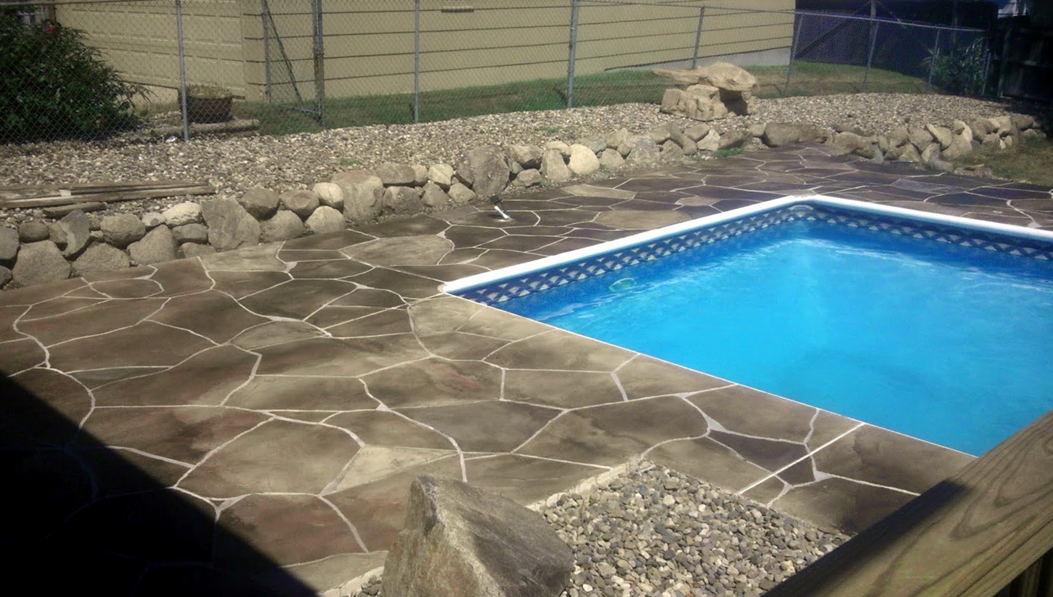 Concrete pool deck ideas home design ideas for Concrete pool designs