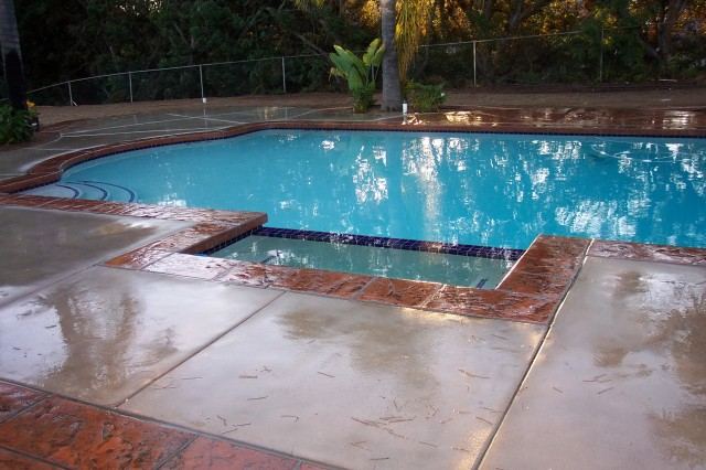 Concrete Pool Deck Images
