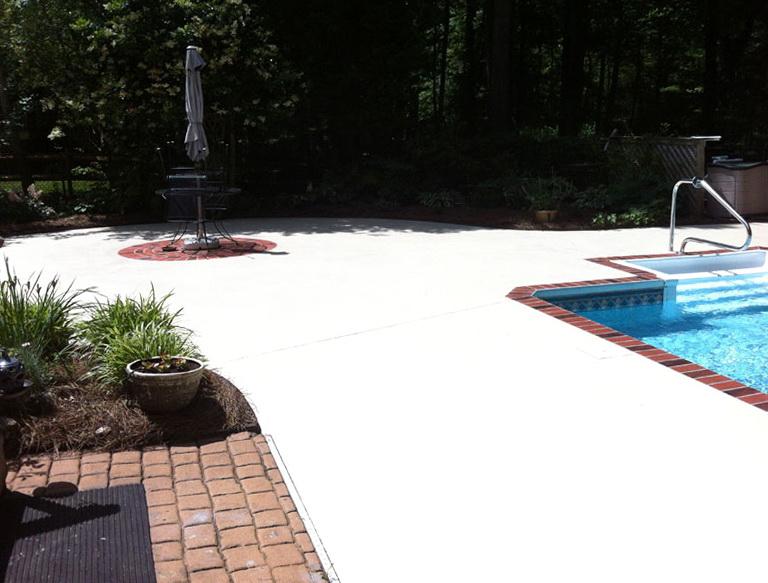 Concrete Pool Deck Paint Home Design Ideas