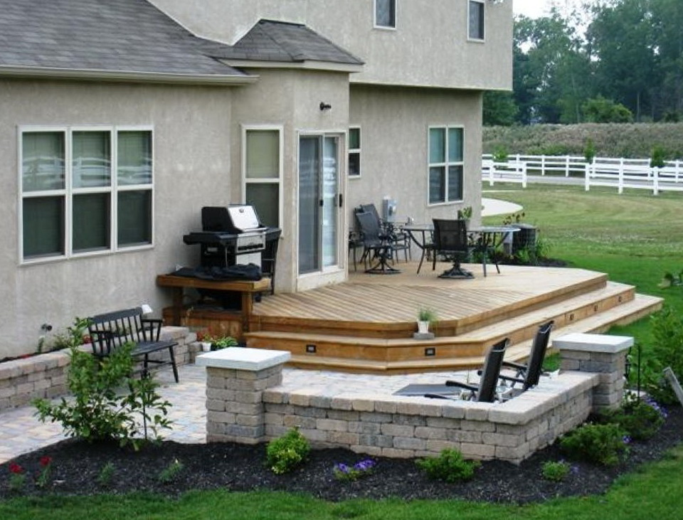 Deck and patio ideas for small backyards home design ideas for Deck patio designs small yards