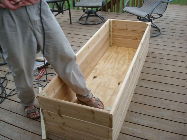 Deck Garden Box Ideas
