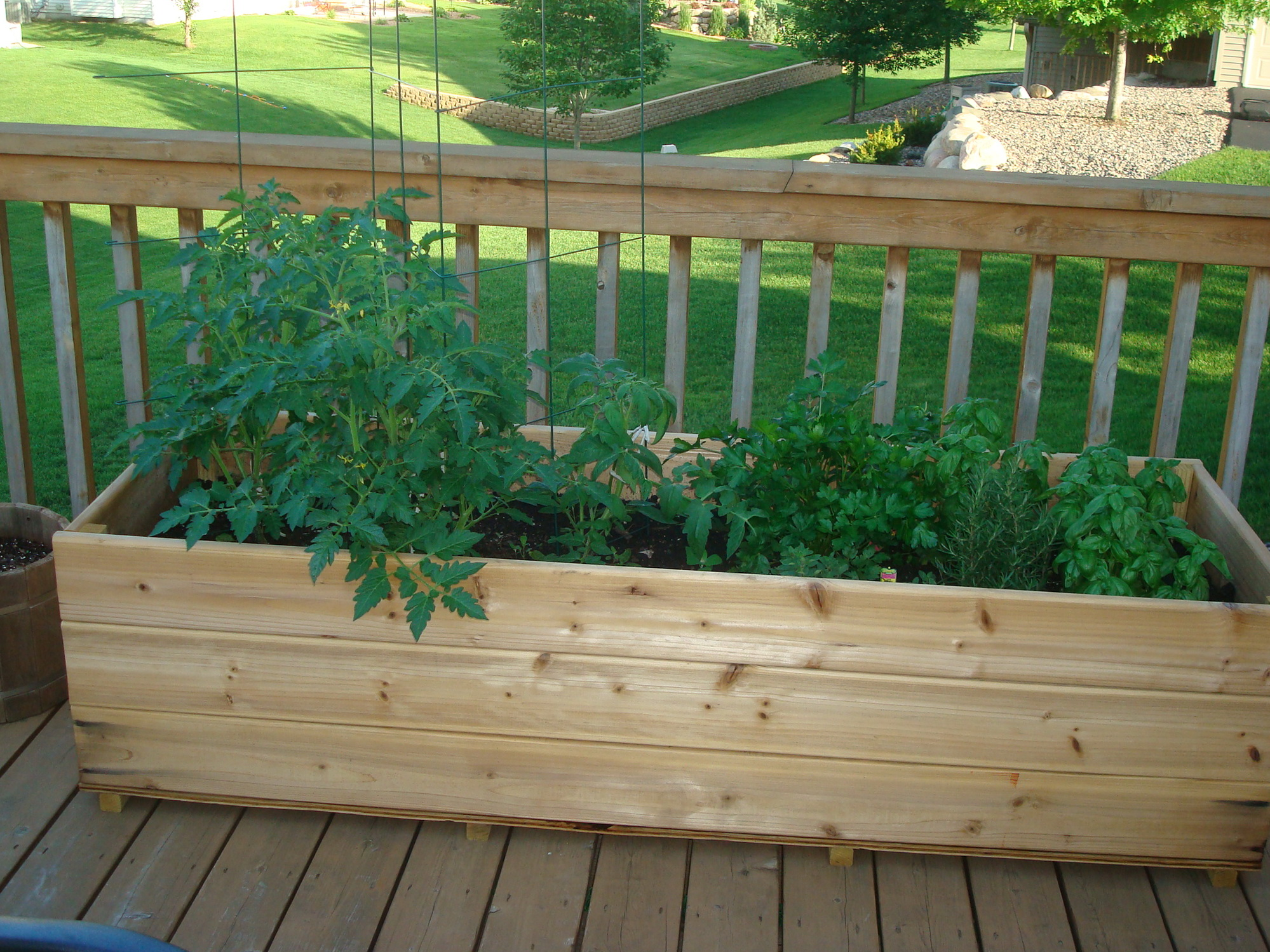 Deck Garden Box Planter