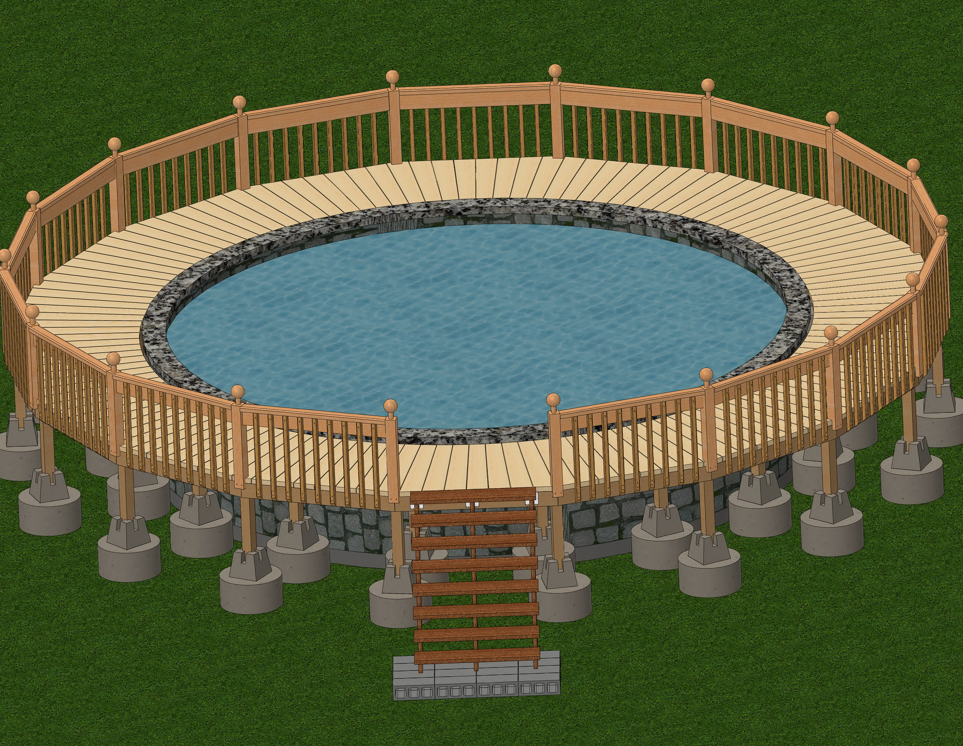 Deck Plans For Above Ground Pools 24'
