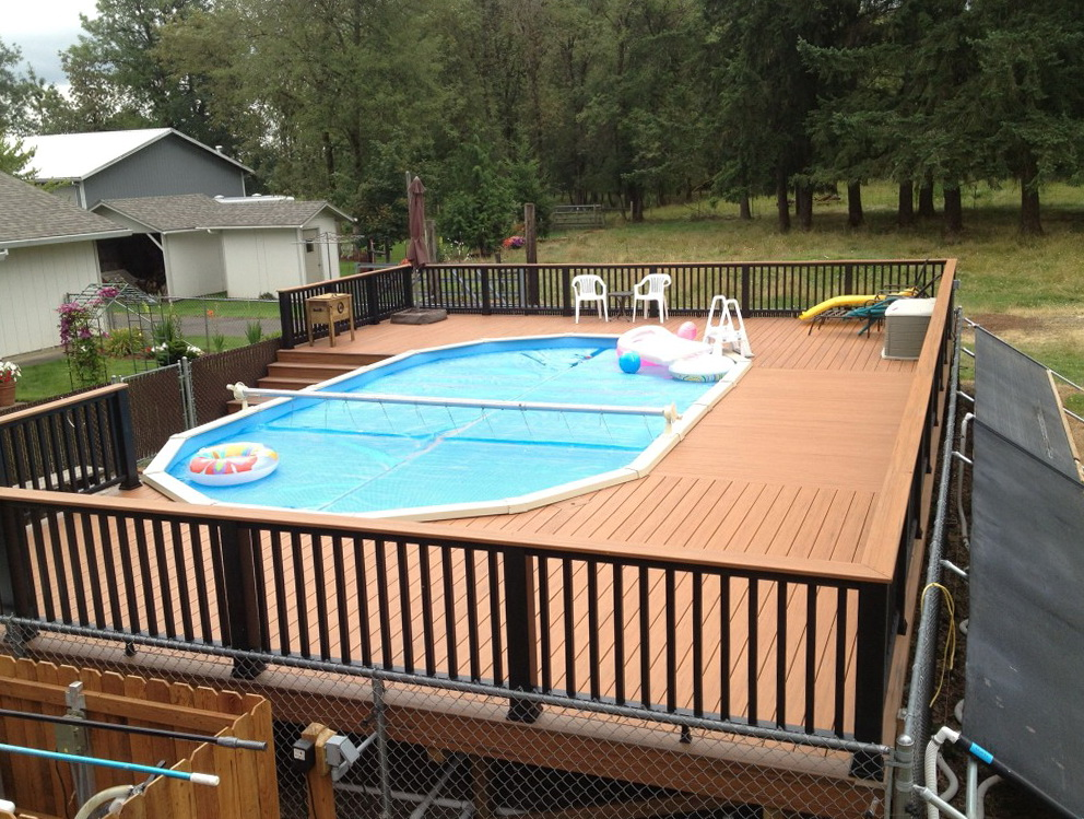 Deck Plans For Above Ground Pools Rectangle