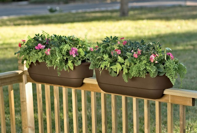 Deck Railing Planter Ideas