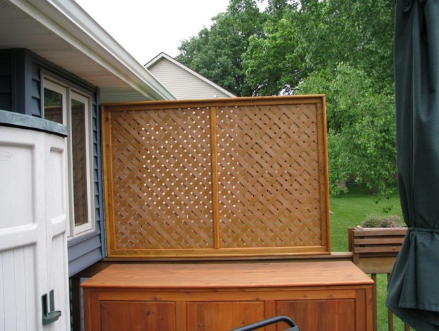 Deck Railing Privacy Screen