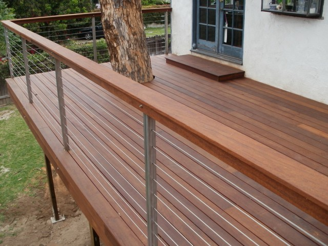 Deck Railing With Wire Cable