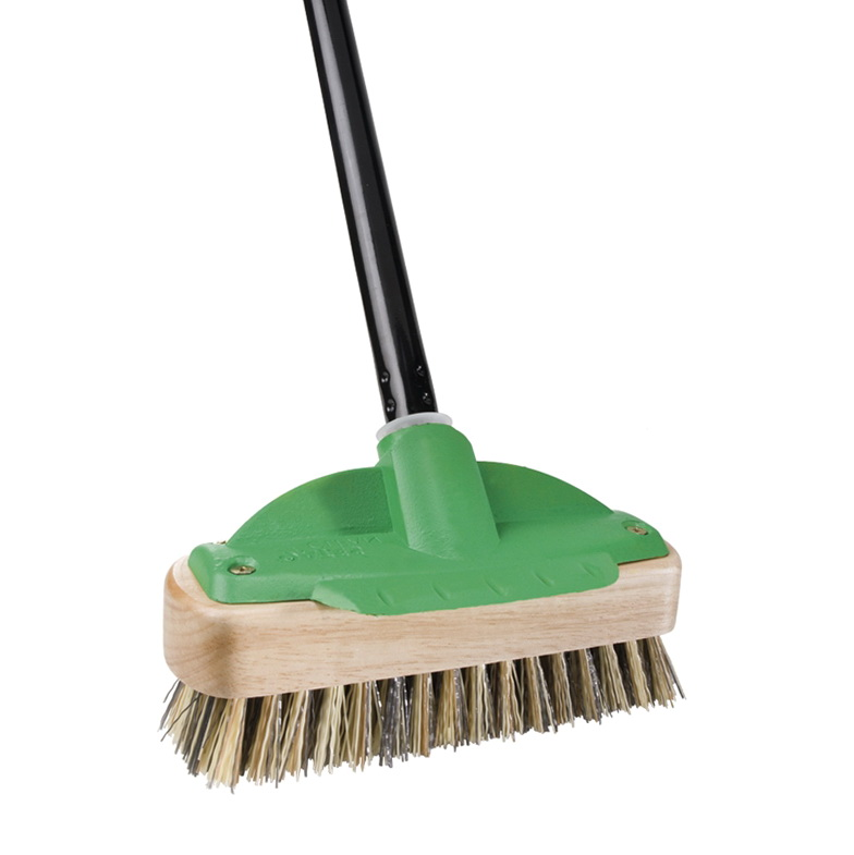Deck Scrub Brush With Handle