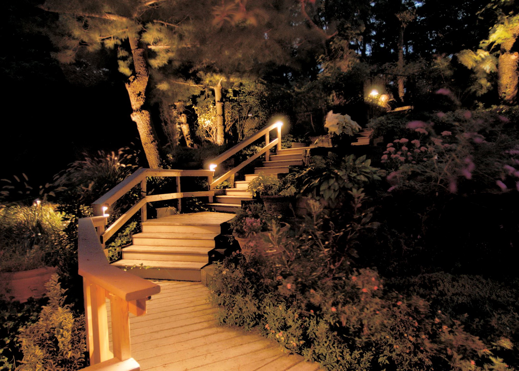 Deck Stair Lighting Ideas
