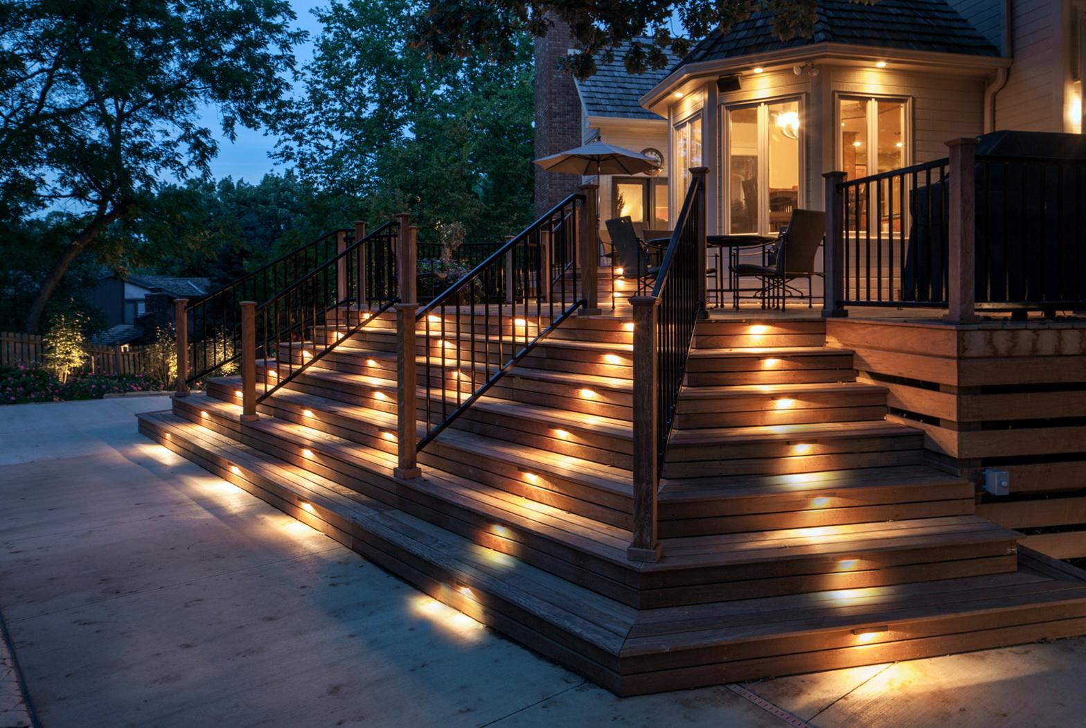 Deck Stair Lighting Kits