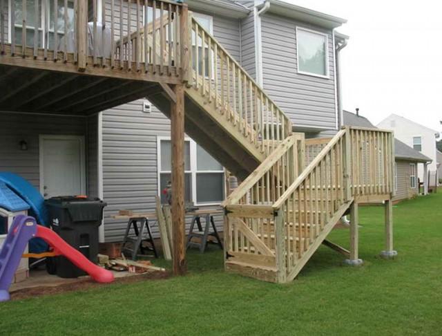 Deck Stair Railing Construction
