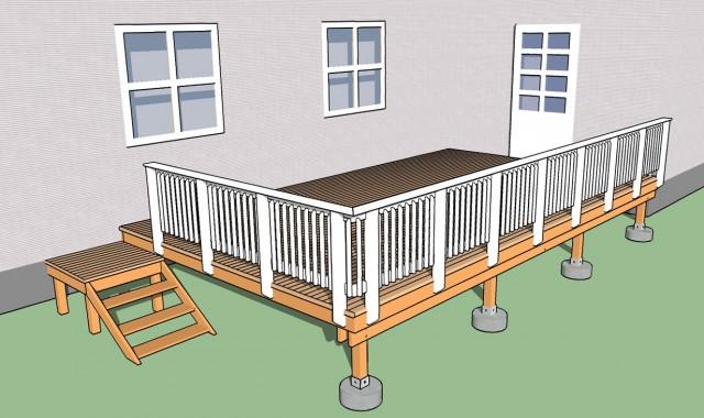 Deck Stair Railing Dimensions