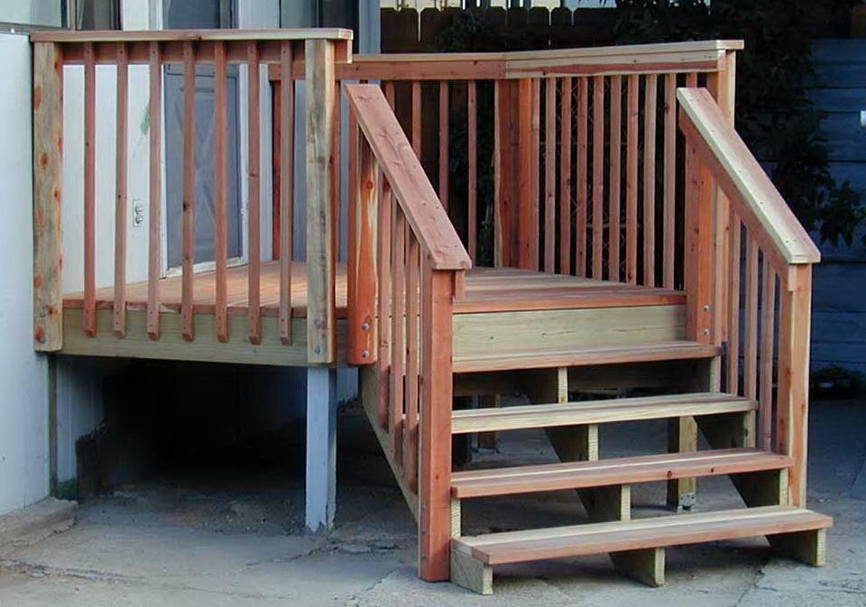 Deck Stair Railing Post Attachment Home Design Ideas