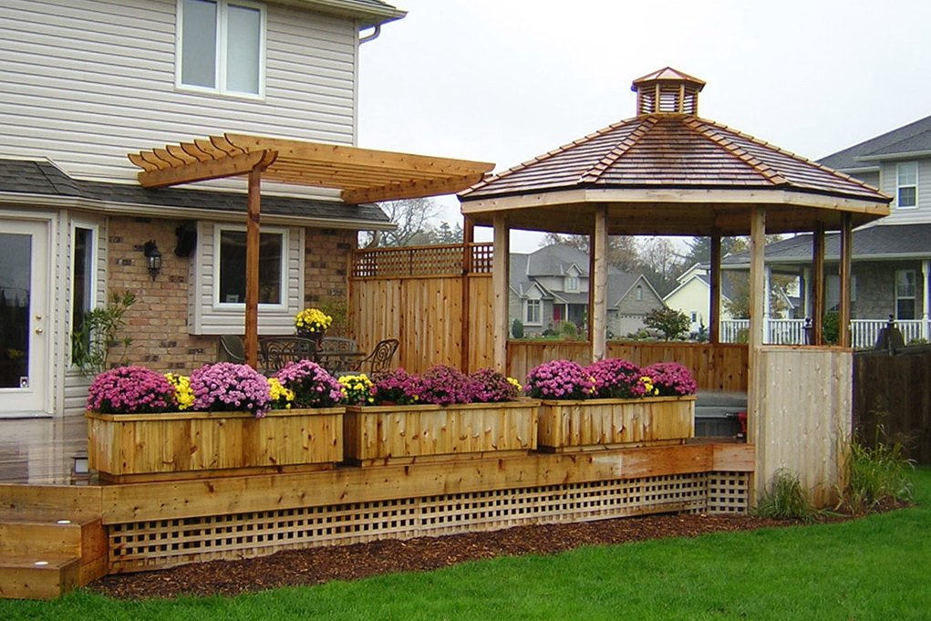 Deck with gazebo plans home design ideas for Patio plans and designs