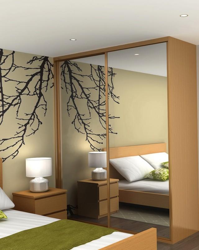 Decorating Mirrored Closet Doors