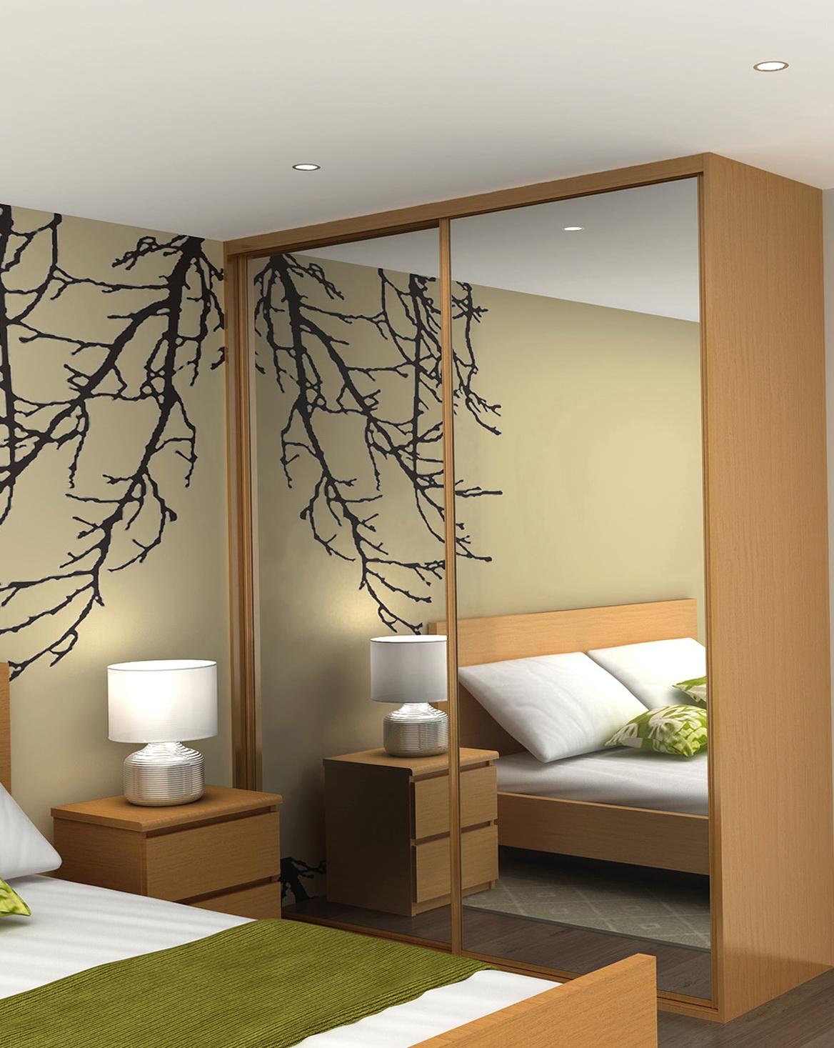 Mirror Closet Doors For Bedrooms Modern Door Design Decorating