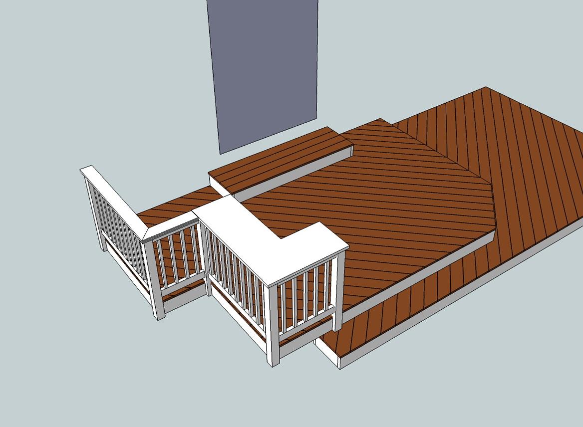 Designing a deck with google sketchup home design ideas for Sketchup deck design