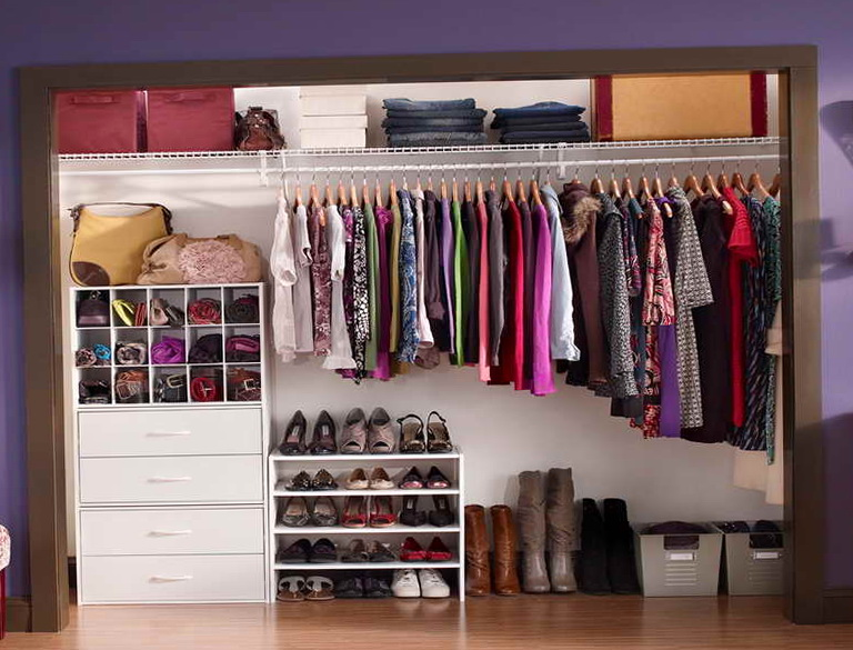 Diy cheap closet organization ideas home design ideas Diy wardrobe organising ideas