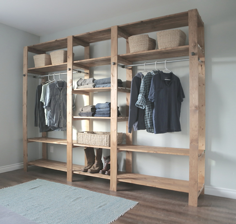 desk closet rods seattlewa ideas shelving shelves with clothing dunndiy diy makeover and hanging closetoffice