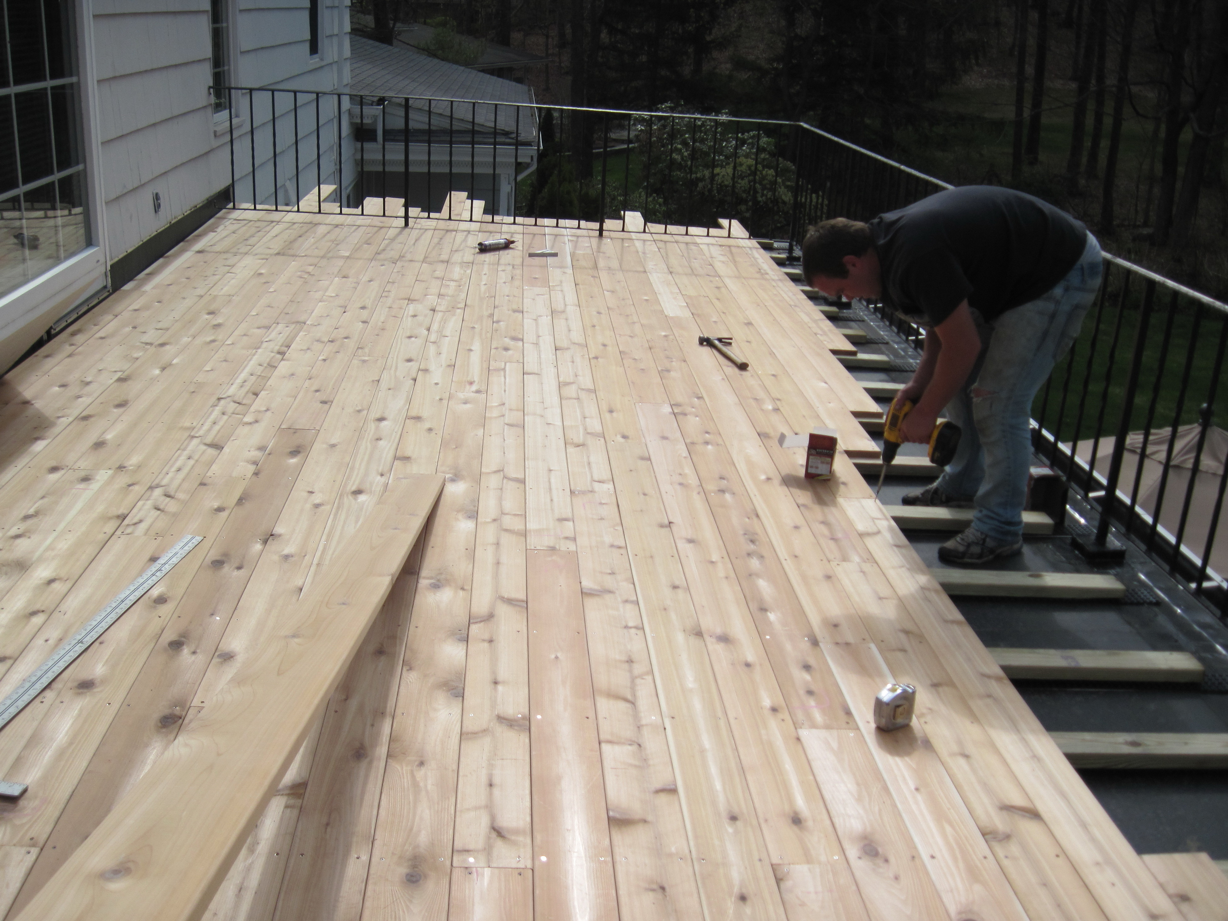 Flat Roof Deck Construction Home Design Ideas