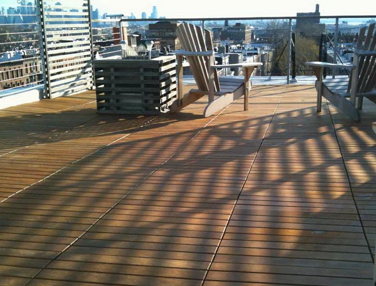 Flat Roof Decking Tiles Home Design Ideas