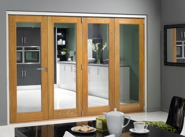 Folding Glass Closet Doors