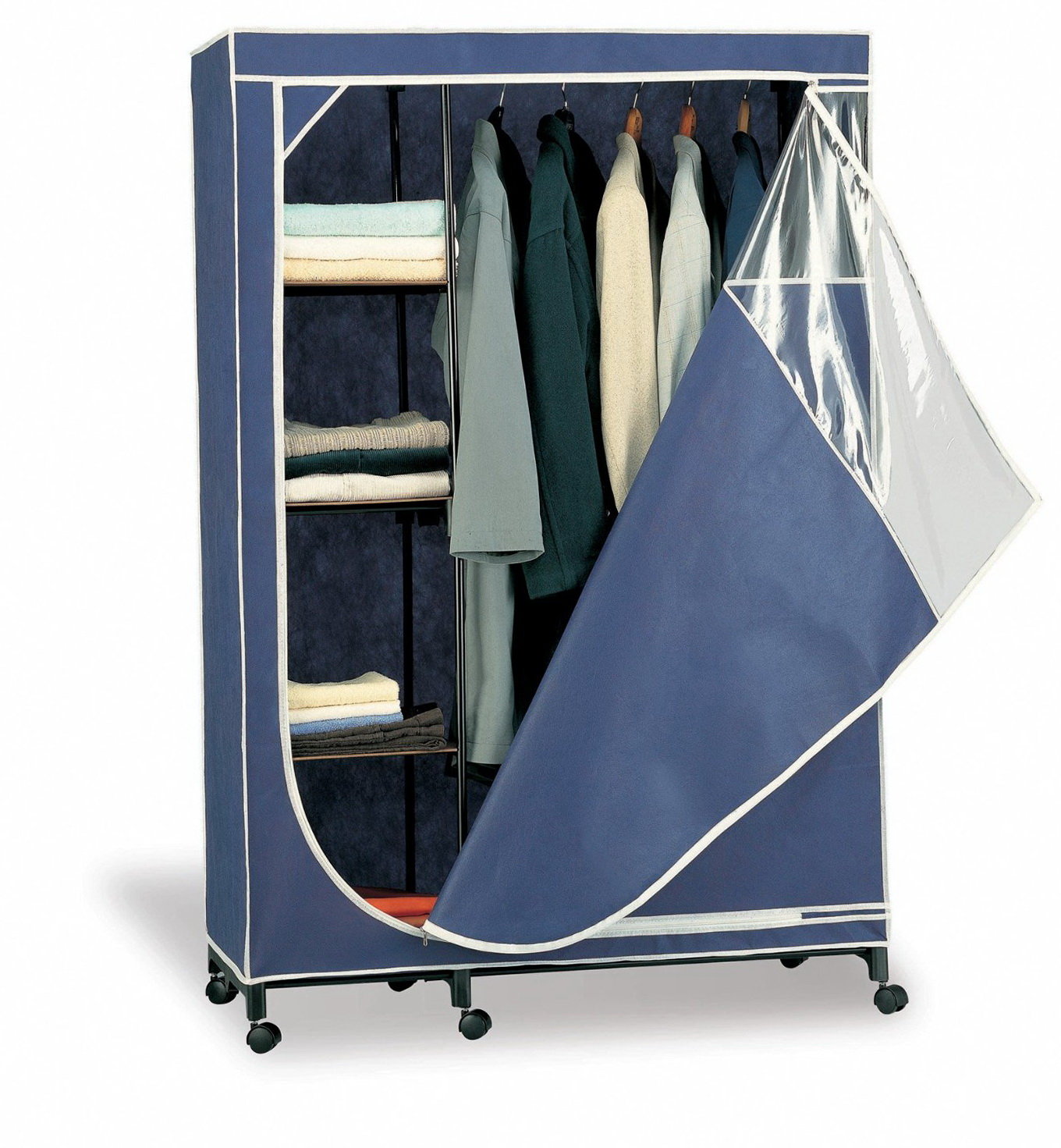 Free Standing Closets With Shelves And Doors