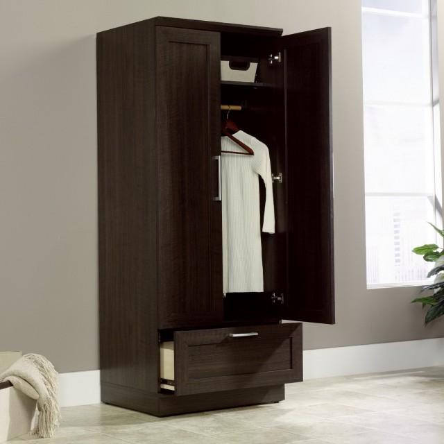Free Standing Clothes Closet With Doors