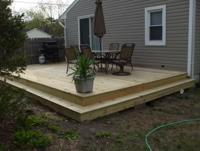 Ground Level Deck Framing
