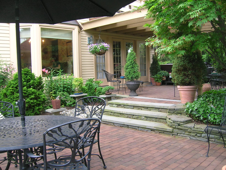 Ground Level Deck With Pergola Home Design Ideas