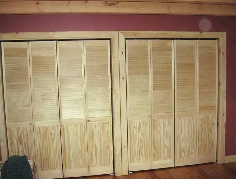 Half Louvered Bifold Closet Doors Home Design Ideas