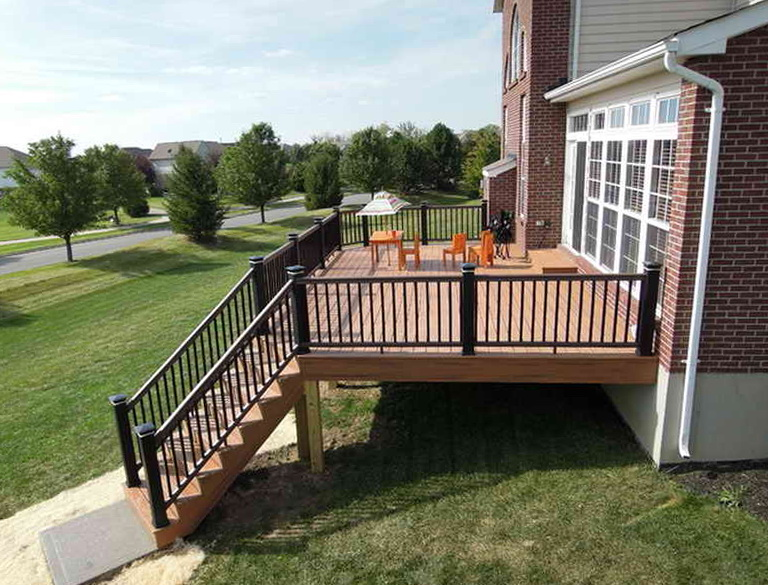 Home depot composite decking reviews home design ideas for Best composite decking material reviews