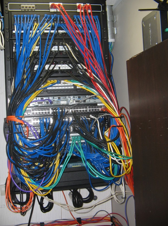 Home Network Wiring Closet