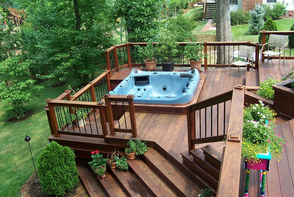 Hot tub deck designs plans home design ideas for Spa deck design