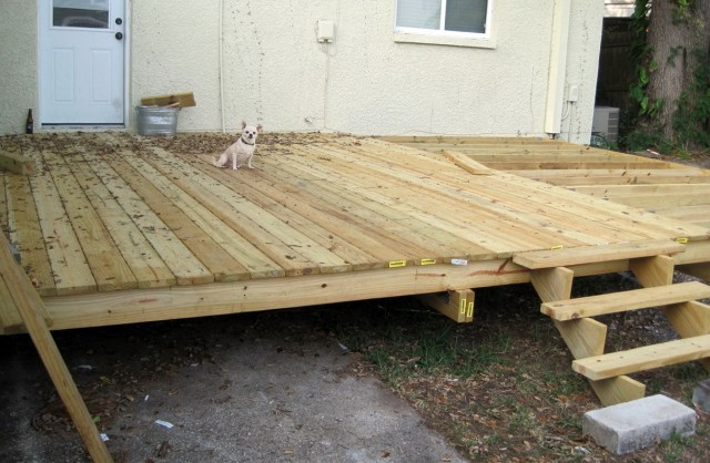 Installing Deck Boards From Underneath