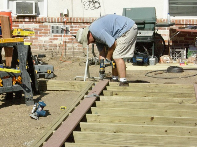 Installing Deck Boards Without Nails Showing
