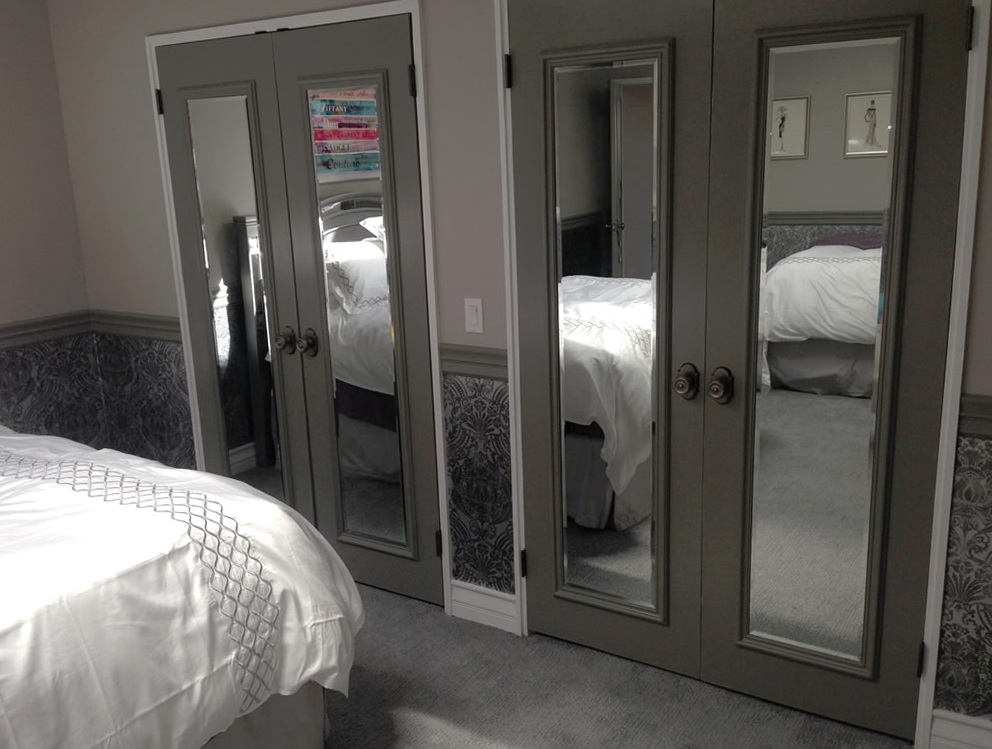 Interior Mirrored Closet Doors Home Design Ideas