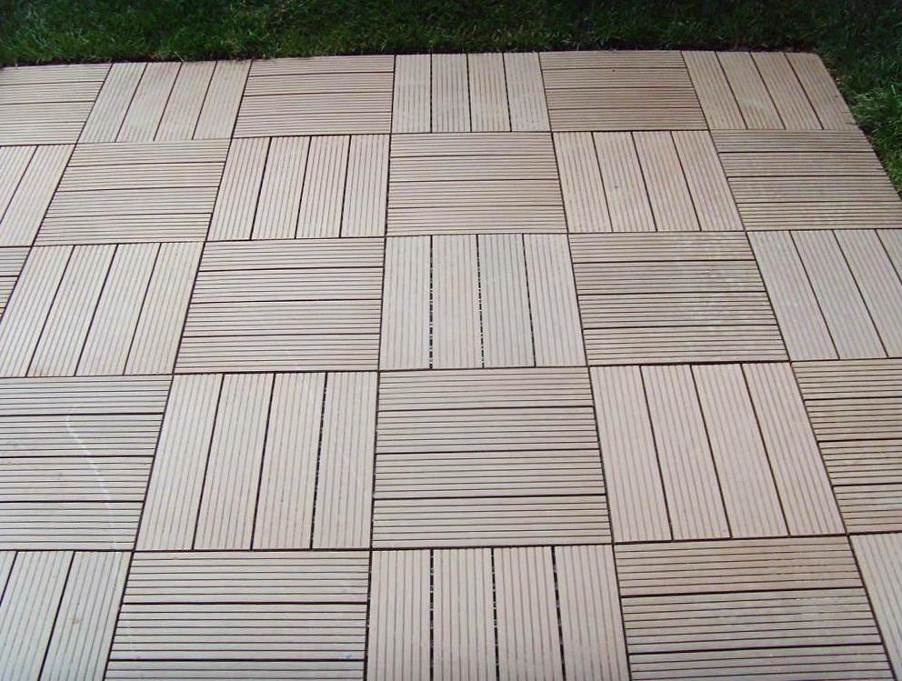 Interlocking wood decking tiles home design ideas - How to install interlocking deck tiles ...