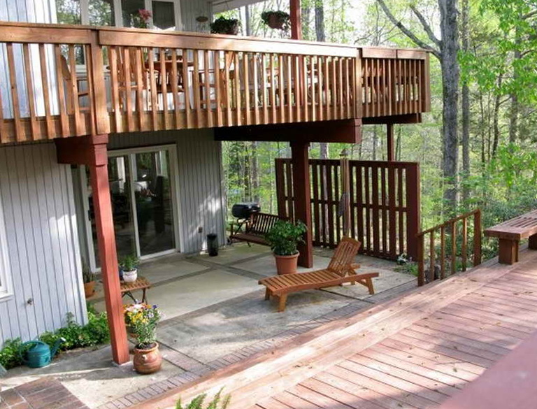 L Shaped Deck Plans Free Home Design Ideas