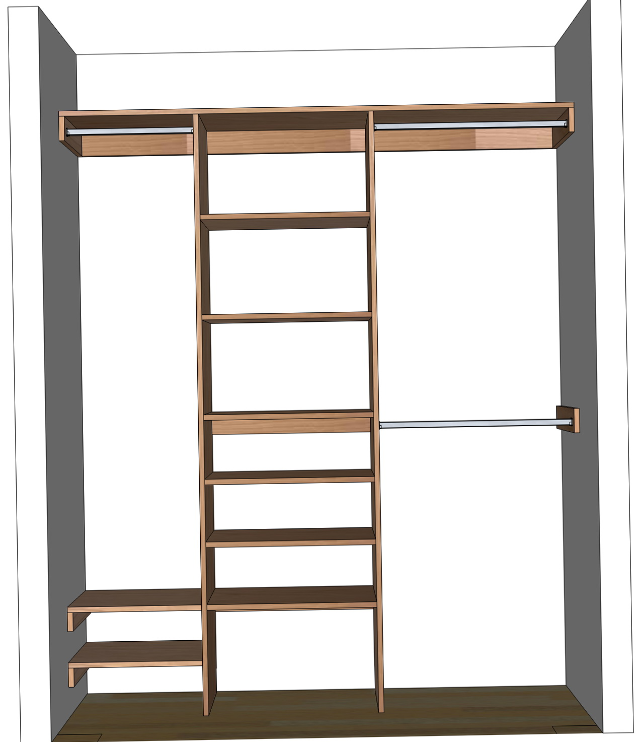 Make your own closet organizer home design ideas for Create your own closet