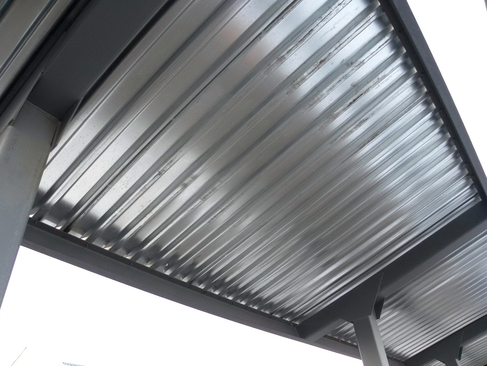 Metal roof decking material home design ideas for Roof decking thickness