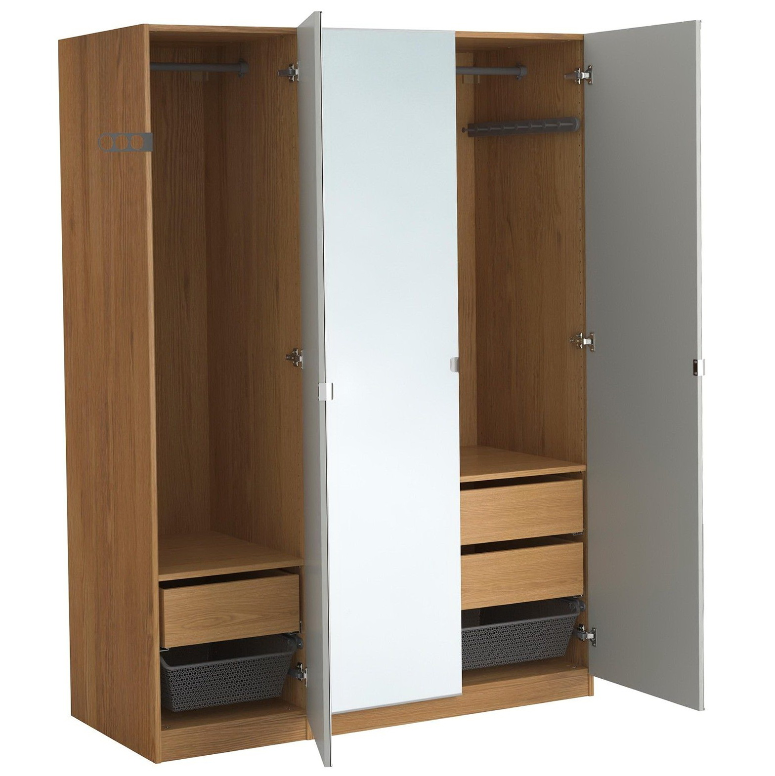 Mirrored wardrobe closet ikea home design ideas - Ikea armoire with mirror ...