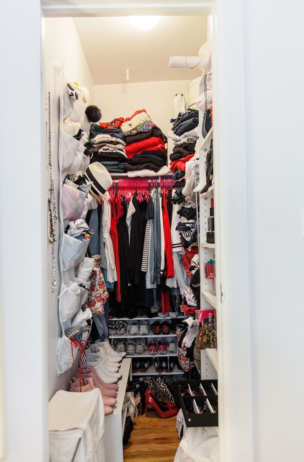 Narrow Walk In Closet Organization Ideas Home Design Ideas